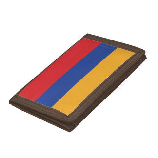 Armenia Plain Flag Tri-fold Wallets