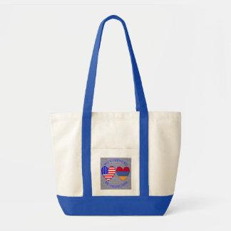 Armenia USA My Country My Heritage Tote Bag