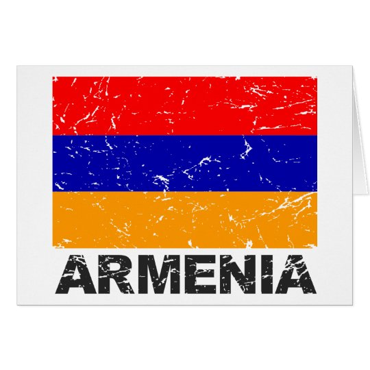 Armenia Vintage Flag Card