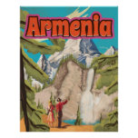 Armenia Vintage Travel Poster