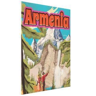 Armenia Vintage Travel Poster Canvas Print