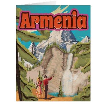 bartonleclaydesign Armenia Vintage Travel Poster Card