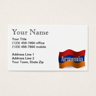 Armenia Waving Flag Business Card