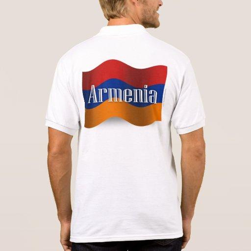 Armenia Waving Flag Polo