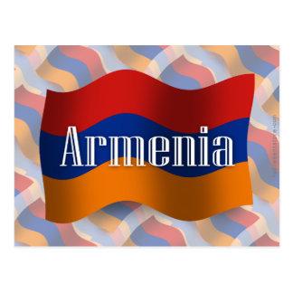 Armenia Waving Flag Postcard