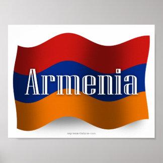 Armenia Waving Flag Print