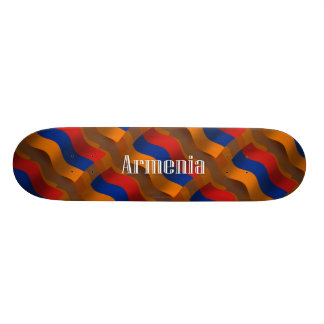 Armenia Waving Flag Skate Board Decks