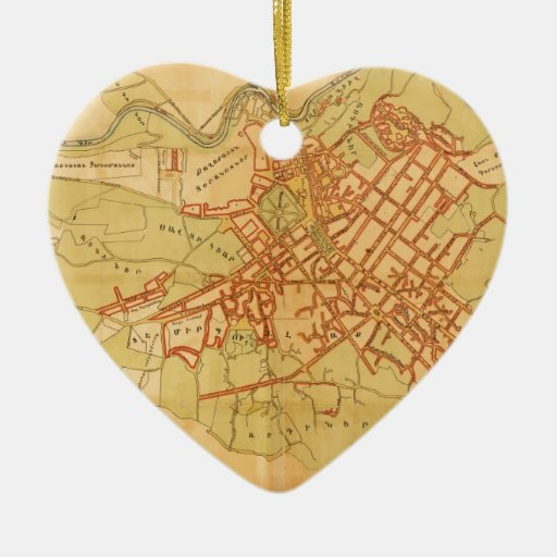 Armenia--Yerevan.jpg Double-Sided Heart Ceramic Christmas Ornament