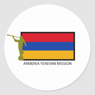ARMENIA YEREVAN MISSION LDS CTR CLASSIC ROUND STICKER