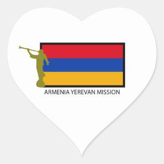 ARMENIA YEREVAN MISSION LDS CTR HEART STICKER