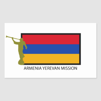 ARMENIA YEREVAN MISSION LDS CTR RECTANGULAR STICKER