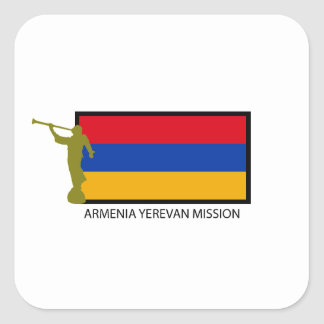 ARMENIA YEREVAN MISSION LDS CTR SQUARE STICKER