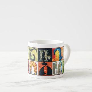 Armenian Alphabet Espresso Cup