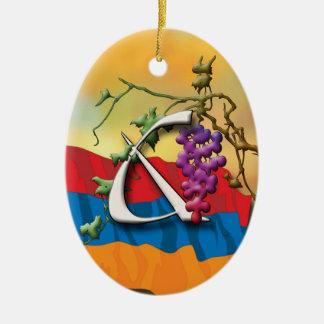 Armenian Alphabet Initials 'Je' Ornament
