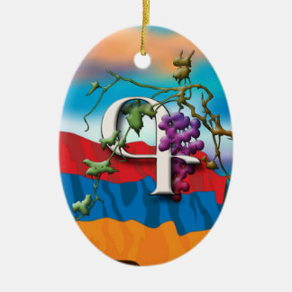 Armenian Alphabet Initials 'Kim' Ornament