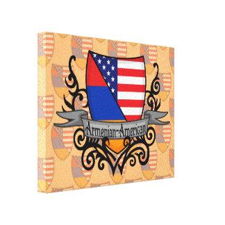 Armenian-American Shield Flag Canvas Print
