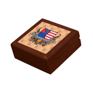 Armenian-American Shield Flag Jewelry Box