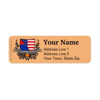 Armenian-American Shield Flag Label