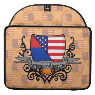 Armenian-American Shield Flag Sleeves For MacBooks