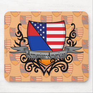 Armenian-American Shield Flag Mouse Pad