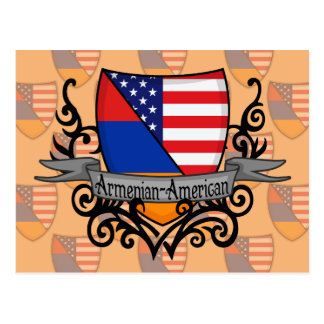 Armenian-American Shield Flag Postcard