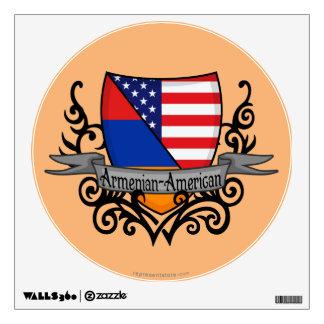 Armenian-American Shield Flag Wall Sticker