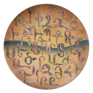 Armenian Birds Alphabet Decorative Plate
