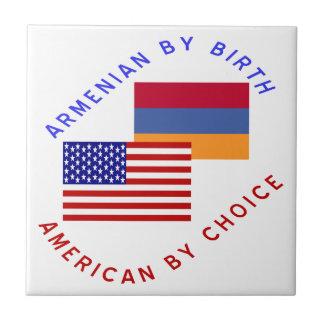 Armenian Birth American Choice Small Square Tile