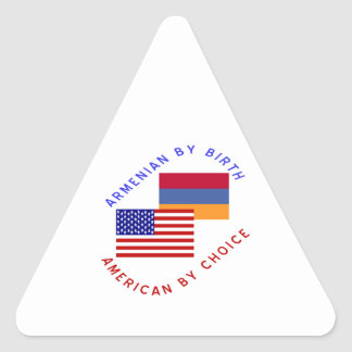 Armenian Birth American Choice Triangle Sticker