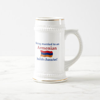 Armenian Builds Character Beer Stein