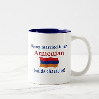 Armenian Builds Character Two-Tone Coffee Mug