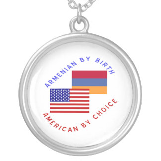 Armenian By Birth American By Choice Round Pendant Necklace