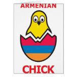 Armenian Chick Greeting Card