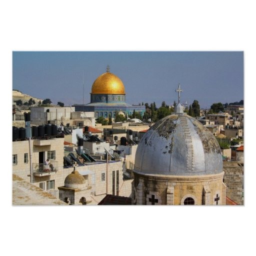 Armenian Church and the Dome of the Rock Poster