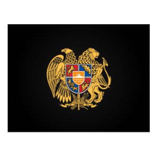 Armenian coat of arms postcard
