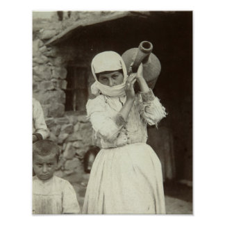 Armenian country girl, Yerevan Poster