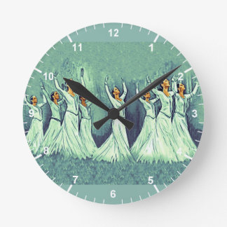 Armenian Dancers Round (Medium) Wall Clock