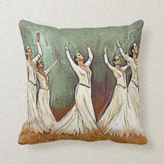 "Armenian Dancers Throw Pillow 16"" x 16"""