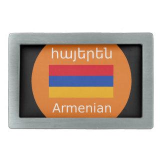 Armenian Flag And Language Design Belt Buckle