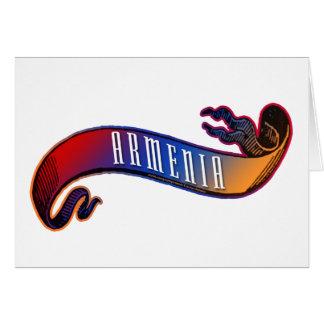 Armenian Flag Banner Card