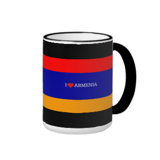 Armenian Flag: I Love Armenia Ringer Coffee Mug