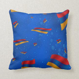 "Armenian Flag Polyester Throw Pillow 16"" x 16"""