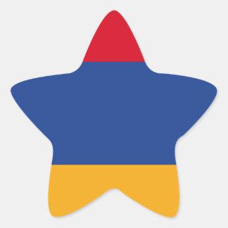Armenian flag star sticker