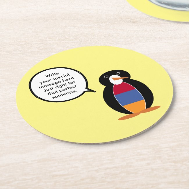 Armenian Flag Talking Penguin