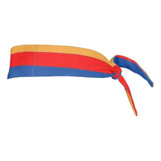 Armenian Flag tie-back athletic head band