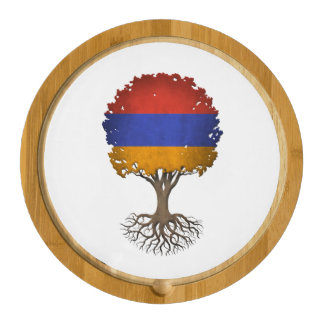 Armenian Flag Tree of Life Customizable Cheese Board