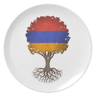 Armenian Flag Tree of Life Customizable Party Plates