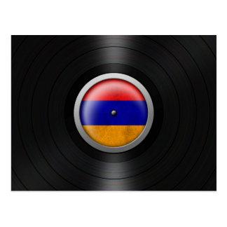 Armenian Flag Vinyl Record Album Graphic Postcard