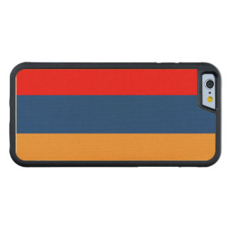 Armenian flag carved® maple iPhone 6 bumper case