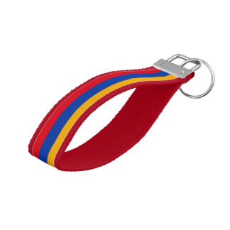 Armenian flag wrist keychain